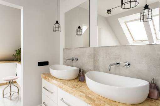 Two sinks can add value to your bathroom